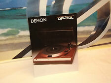 Vintage Denon DP-30L Turntable  Original Catalog / Magazine