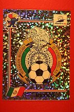 PANINI WC WM FRANCE 98 1998 N. 354 MEXICO BADGE WITH BLUE BACK MINT!!
