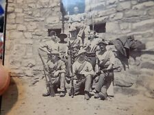 BOER WAR GARRISON TROOPS  2 AMAZING PHOTOS   8 X 8 CM ORIGINALS  A PAIR