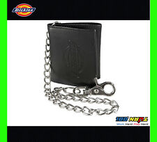 Dickies Mens Leather Trifold Chain Wallet  31DI1101 Motorcycle Trucker Biker