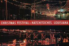 Christmas Festival, Natchitoches, Louisiana, River Bank, Lights, etc. - Postcard