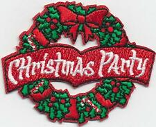 Girl Boy Cub CHRISTMAS PARTY WREATH Fun Patches Crests Badges SCOUT GUIDE
