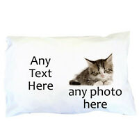 Valentine's Day Personalised Pillowcase ~ Any Photo ~ Any Text ~ Great gift