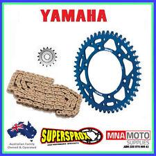 YAMAHA YZ250F 00 - 16 ALLOY SPROCKET KIT EK RACE CHAIN 13 49 BLUE SPROCKET