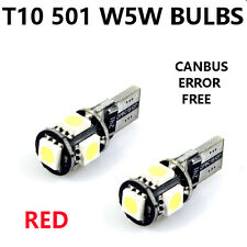 4 x T10 501 W5W 5SMD LED CANBUS SUPER WHITE XENON SIDELIGHT/INTERIOR HID UPGRADE