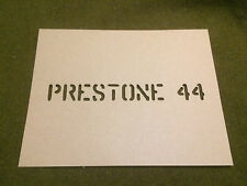 WWII WILLY'S MB GPW JEEP PRESTONE 44 HOOD REUSABLE STENCIL for 1943 JEEP WW2