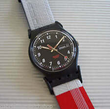 TONY BLOCK! Sporty, Colorful Swatch with DAY/DATE, Glow Dial Hands! New-RARE!