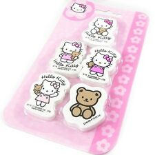 Set De 5 Gommes Hello Kitty * NEUF *