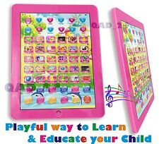 PINK TABLET My First Year Kids PAD TAB Educational Toy Xmas Gift for Girls Boys