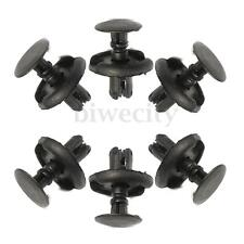 50Pcs Plastic Car Bumper Fastener Rivet Push Clips 6mm Hole For Toyota