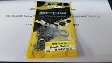 1 Pack SPRO SPSB Ball Bearing POWER Swivel 230#Test Size 2 10 Pieces