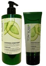 Biolage Coarse Hair Cleansing Conditioner 16.9 oz and Smoothing Cream 6.8oz Duo