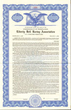 Liberty Bell Racing Association   Pennsylvania horse park bond certificate