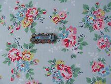 Cath Kidston Kingswood Rose Azul 25cm cuadrado de tela de algodón ligero Nuevo