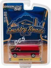 1986 CHEVROLET G20 VAN BLACK/RED COUNTRY ROADS SERIES 15 1/64 GREENLIGHT 29850 C