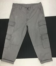 Uniqlo Undercover UU Khaki Gray Cotton Cargo Cropped Pants Mens Sz 31""