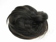 Very Dark Brown Fake Artificial Imitation Synthetic Hair Bun Accessories UK