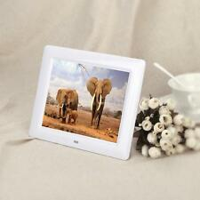 """8"""" HD TFT-LCD Digital Photo Frame Alarm Picture Clock MP4 Movie Player + Remote"""