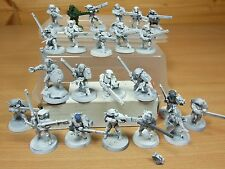 23 PLASTIC WARHAMMER TAU FIRE WARRIORS PART PAINTED (1266)