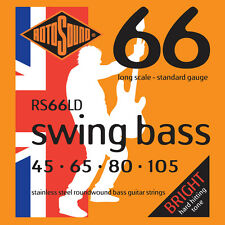 Rotosound RS66LD Swing Bass Stainless Steel Standard Gauge Electric Bass Strings
