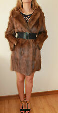 VINTAGE  MUSQUASH mink MUCRAT FUR  JACKET SHORT COAT SIZE 42 UK 14 16 *20*