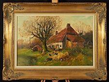 Huile sur toile signée L. Piron (XXe s.) - Belgique, scène de campagne