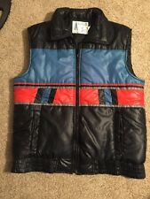 Vintage 80's *Men's Alpine Ski Multi-Colored blue puffy Vest* Medium retro punk