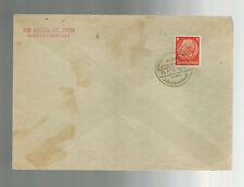 1940 Germany Litzmannstadt Ghetto Cover Aelteste der Juden Cancel and Return