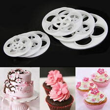 6x Fondant Cake Sugar Craft Decor Cookie Rose Flower Mold Gum Paste Cutter Tools