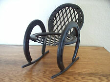 Horse Shoe Rocking Chair  Equestrian art/ Doll Rocker/Western decor rustic