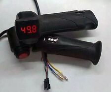 Electric Bike Twist Throttle 12-100v LED Display Voltmeter & ON OFF Kill Switch