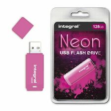Integral 128GB Neon USB Flash Drive in Pink, a GADGET SHOW AWARD WINNER.
