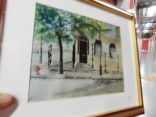 """Tom Farrell, """"Townhouse"""", dated 1986-- watercolor"""