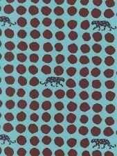 Echino Panther Dot Blue Teal Japanese OOP Fabric HALF YARD