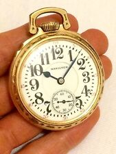 Rare Antique Hamilton 10kt Gold Filled American Railway Pocket Watch Timekeeper