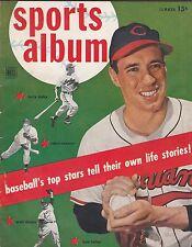 SPORTS ALBUM BASEBALL MAGAZINE SUMMER '51 ISSUE-FELLER ON COVER,DIMAGGIO,MUSIAL