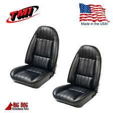 1971 - 1977 Camaro Front and Rear Seat Upholstery Black Vinyl IN STOCK!! by TMI