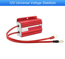 Universal Racing Car 12V Voltage Stabilizer Ballast Fuel Saver Regulators Red