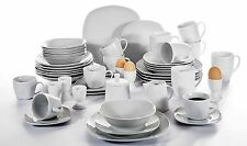 50pc Complete Dinner Set Porcelain Ceramic Plates Kitchen Dinning Service Sets