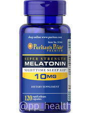 Puritan's Pride Melatonin 10 mg  Natural Sleep 120 Capsules Sleep aid MadeinUSA