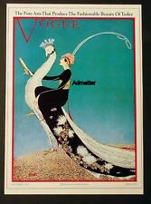 VOGUE FASHION MAGAZINE COVER POSTER NOV 1911 PEACOCK BIRD RIDER ART DECO PRINT!