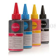 4PCS 100ML SET Couleur Encre Ink Recharge pour Imprimante Printer Universel