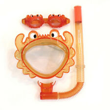 Crab Mask Snorkel Goggle Kit Pool Kids 3-10 yrs Beach learn to swim NEW 7195
