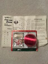 "VIntage Berman & Anderson Red Satin Ornament Kit Beads Pins MIP ""Fire And Ice"""