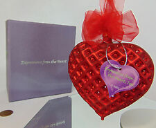 NEW CUPIDS KISS Red Heart Expressions ORNAMENT LE 504 Made w/ Swarovski Crystals