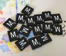 10 (TEN) Letter M, Black  Scrabble Tiles Letters, Individual, A to Z in Stock!