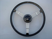 VW TYPE 1 2 3 BUG BUS GHIA PORSCHE 356 COMPLETE BLACK BANJO STEERING WHEEL