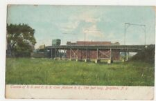Trestle of RS & ERR Over Auburn Railroad Brighton NY USA 1908 Postcard 469a