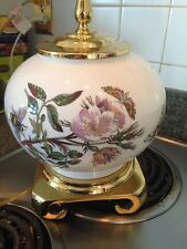 Portmeirion Pomona China Botanic DOG ROSE GLOBE VASE LAMP No Shade