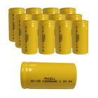 12 pack C Size 3000mAh 1.2V Ni-Cd Rechargeable Batteries Flat Top